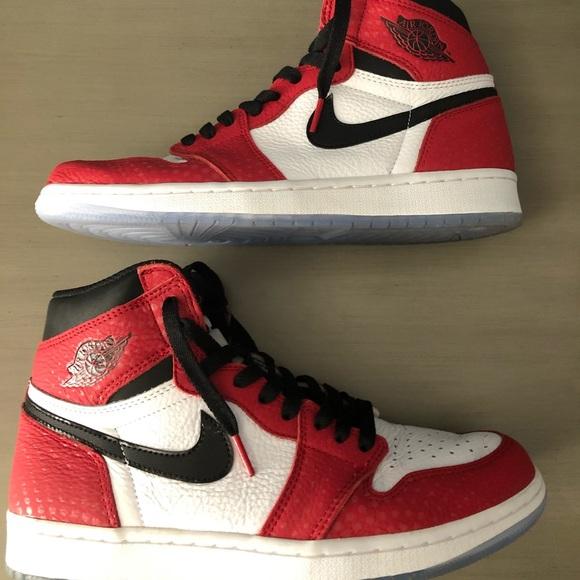new style 3d0ca a41a7 Air Jordan 1 spider man orgin